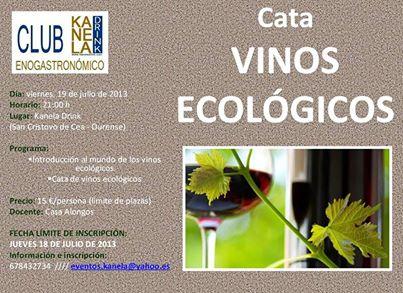 Cata de vinos ecológicos 1
