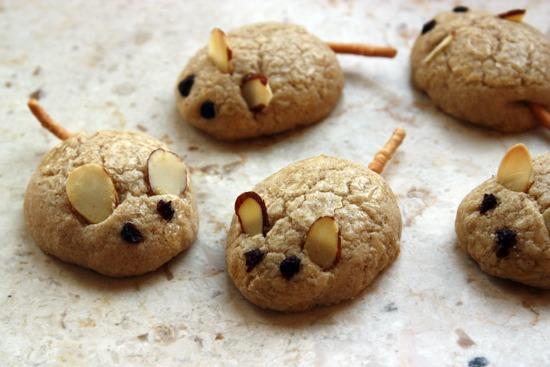 Galletas de mantequilla y especias en forma de ratones 1