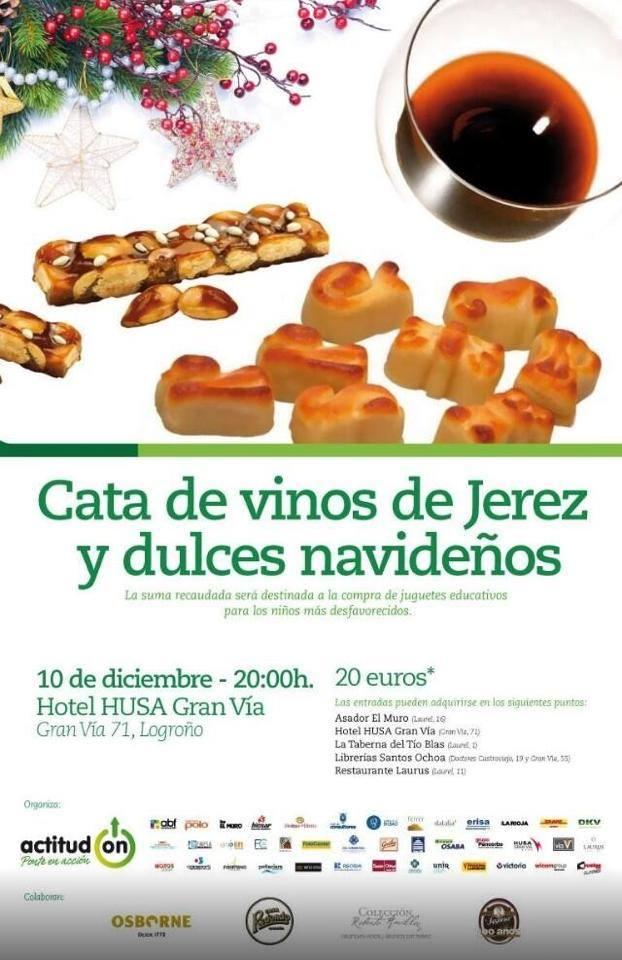 Cata de vinos de Jerez y dulces navideños
