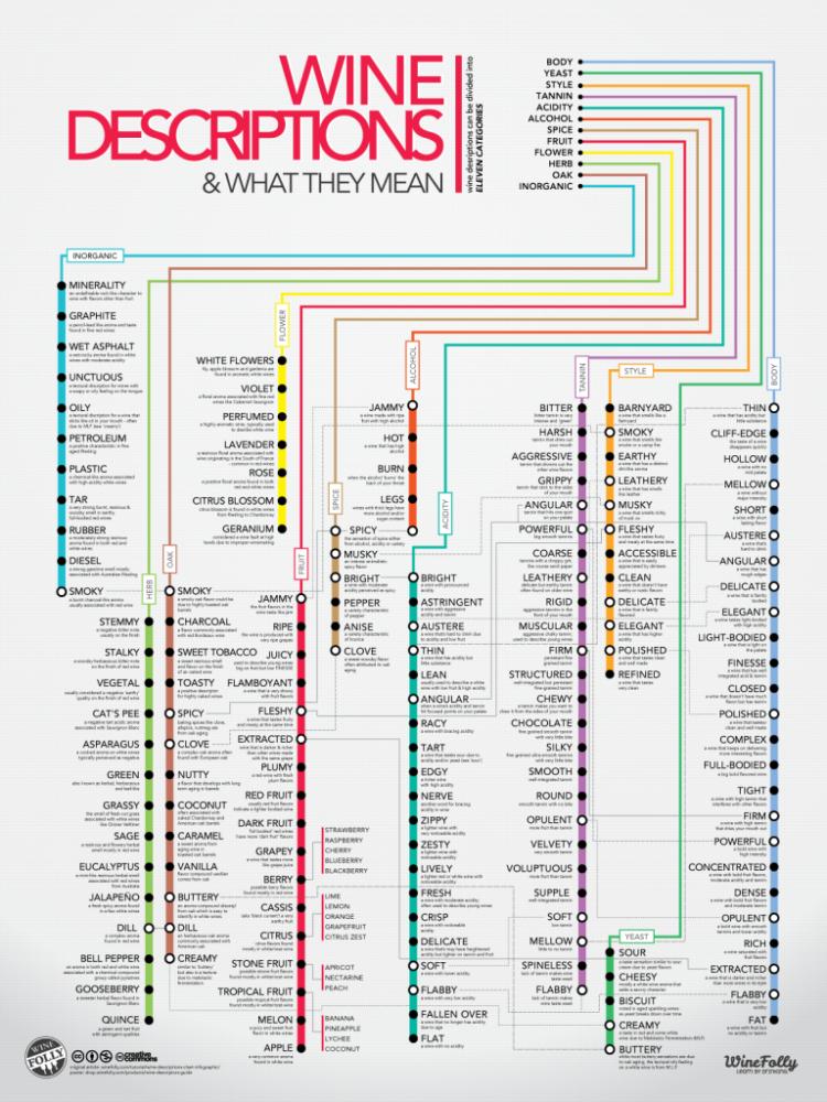 Los 120 términos más comunes para describir un vino 1