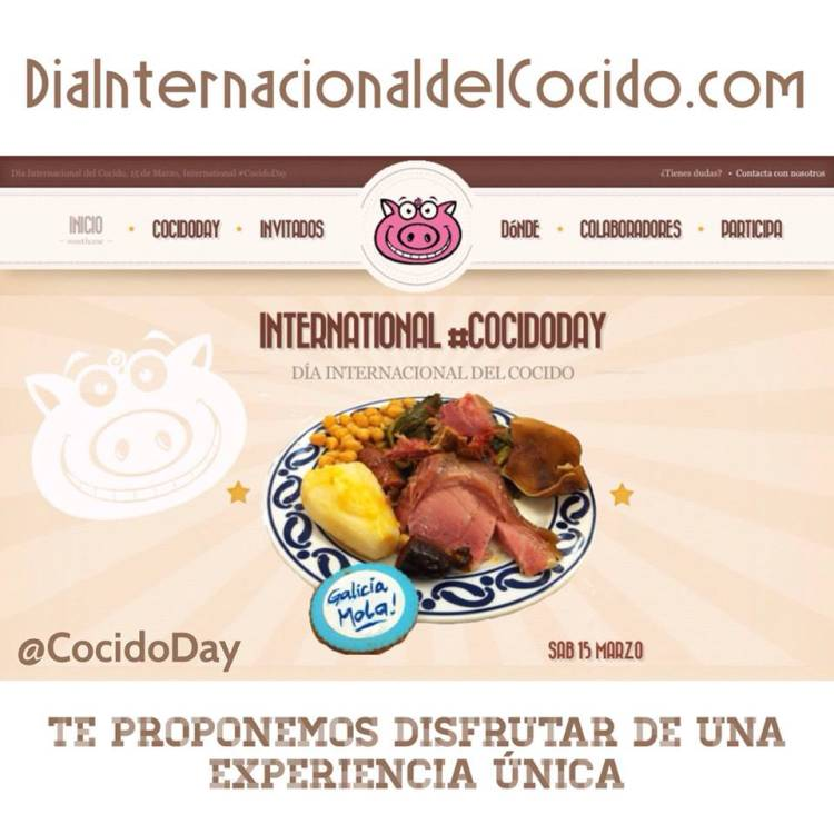 Día Internacional del Cocido, o sea, #CocidoDay