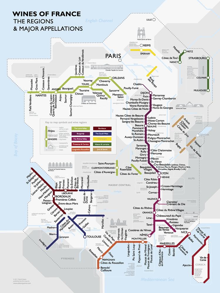 Las regiones vinícolas de Francia 1