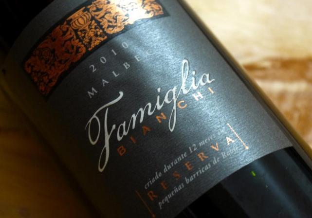 El Malbec argentino Famiglia Bianchi Reserva premiado como el mejor vino tinto del mundo 2
