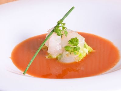 Sanmartiño, sopa picante de tomate, coles y acelgas 1