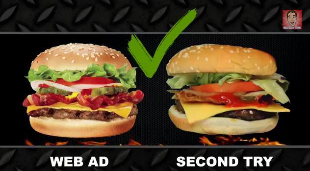 ¿Qué harías cuándo la comida que te ofrecen en la foto no se parece en nada a la realidad? 1