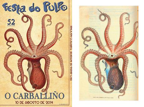 Las redes sociales 'avivan' la polémica sobre el cartel de la 52 Edición de la Festa do pulpo de Carballino 1