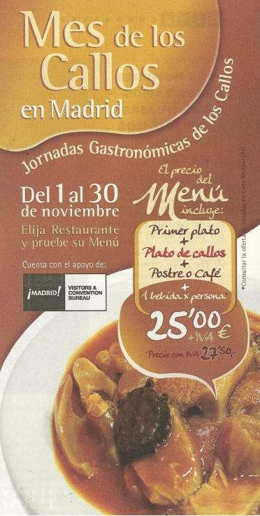 III Edición Mes de los CALLOS en Madrid 1