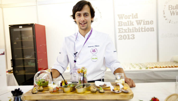Kike Piñeiro volverá a ser el chef del show cooking en la World Bulk Wine Exhibition 1