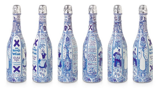 No House Wine Sparkling, Delft Blue