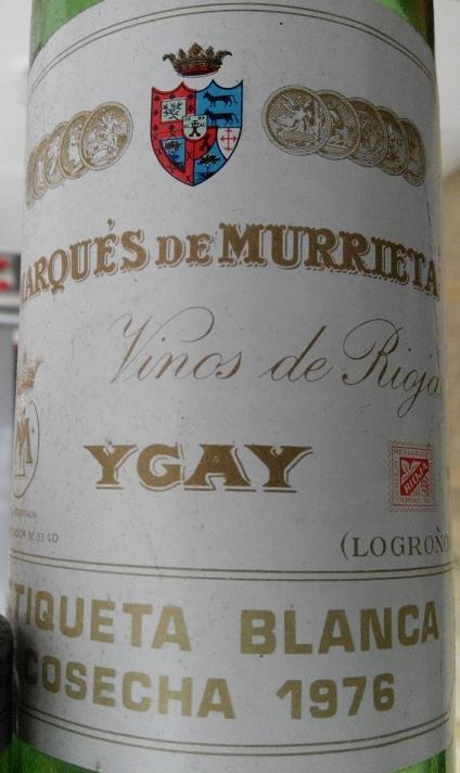 Marqués de Murrieta Ygay Etiqueta Blanca 1976 1