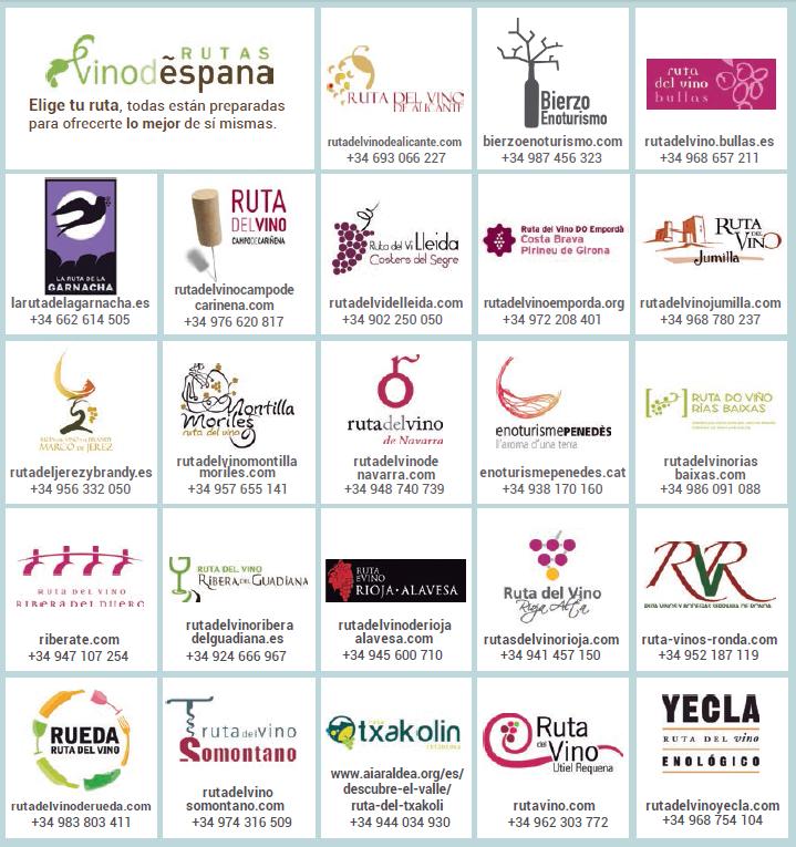 Rutas del Vino en España certificadas por ACEVIN para este 2015 1