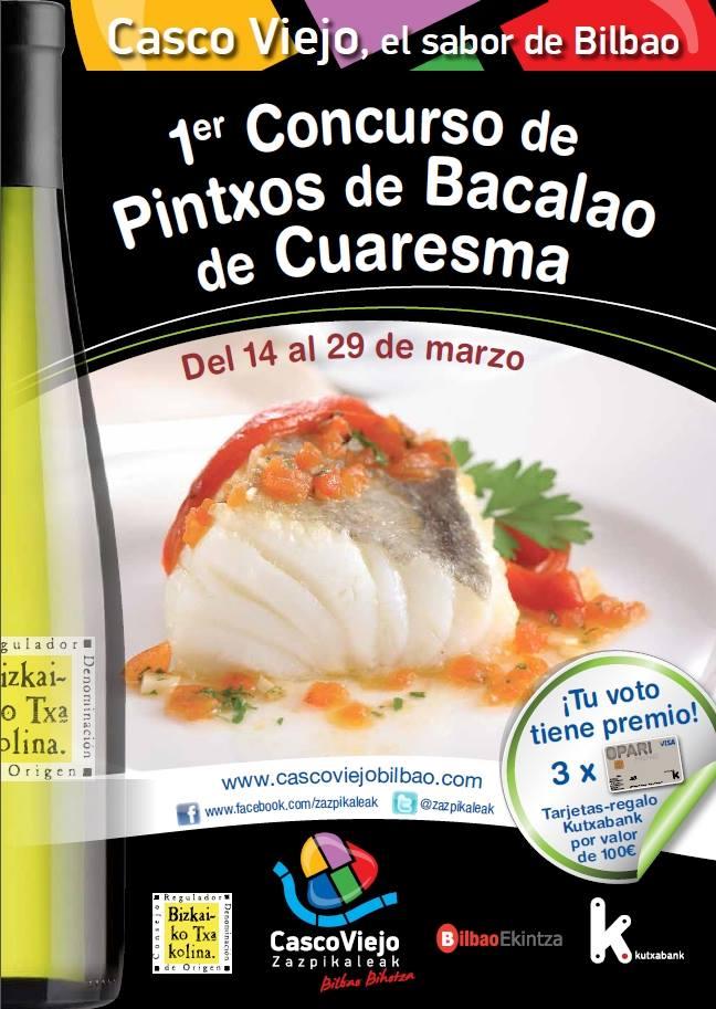 I Concurso de Pintxos de Bacalao de Cuaresma en Bilbao 1