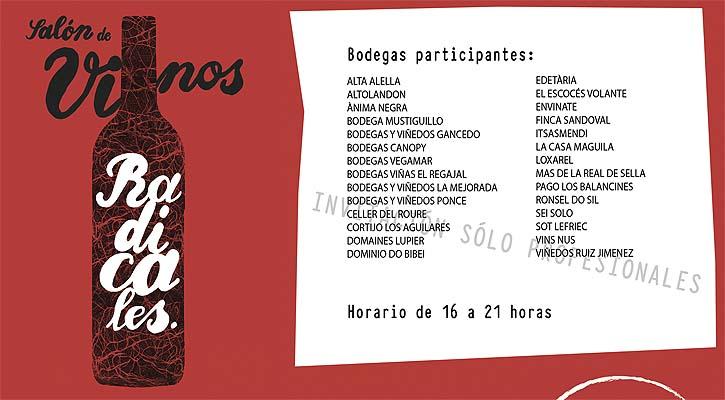 Salón de los Vinos Radicales este lunes en Madrid 1