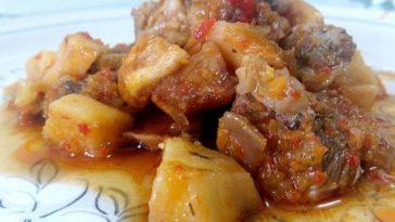 Ternera guisada con verduras en salsa de godello 1