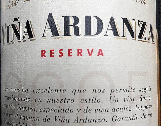 Viña Ardanza Reserva 2005 2
