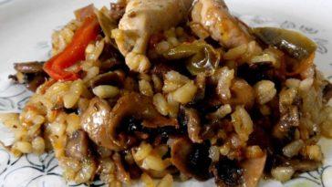 Arroz con pollo a la plancha con falso pisto de verduras 7