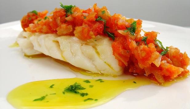 Bacalao con tomate al horno 1