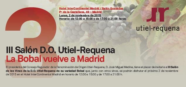 III Salón de los Vinos DO Utiel-Requena en Madrid, la Bobal vuelve a la capital de España 1