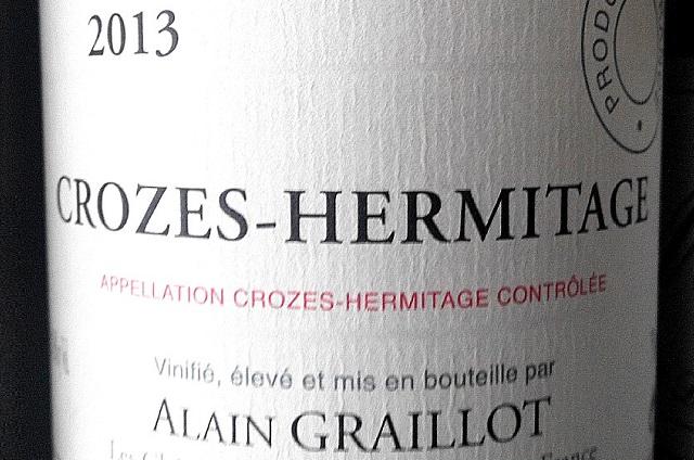 Crozes Hermitage 2013, Alain Graillot 1