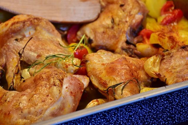 Muslos de pollo adobados al horno con reducción de vino tinto 1