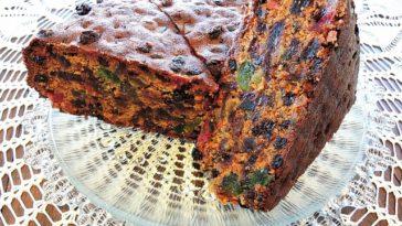 Pastel de frutas de Navidad o Fruit Cake 1