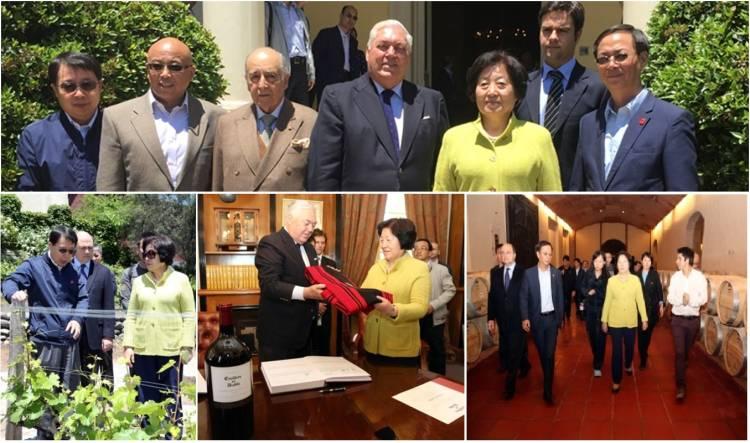 Sun Chunlan, miembro del Buró Político del Partido Comunista de China visita viña Concha y Toro 1