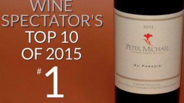 Cabernet Sauvignon Oakville Au Paradis 2012 mejor vino del mundo este año para Wine Spectator 2