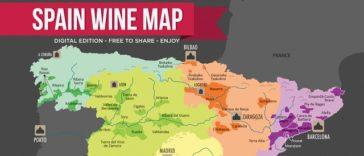 Mapa de las zonas productoras de vino en España 2