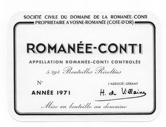Añadas clásicas de Henri Jayer y Romanée-Conti 1971 los vinos más falsificados del mundo 1