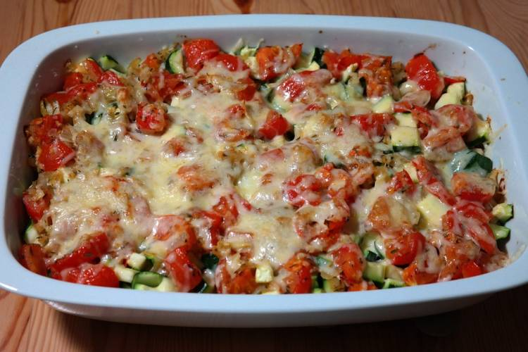 Casserole de verduras y quesos 1