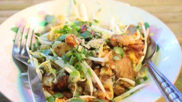 Ensalada de pollo frito oriental con brotes de soja 1