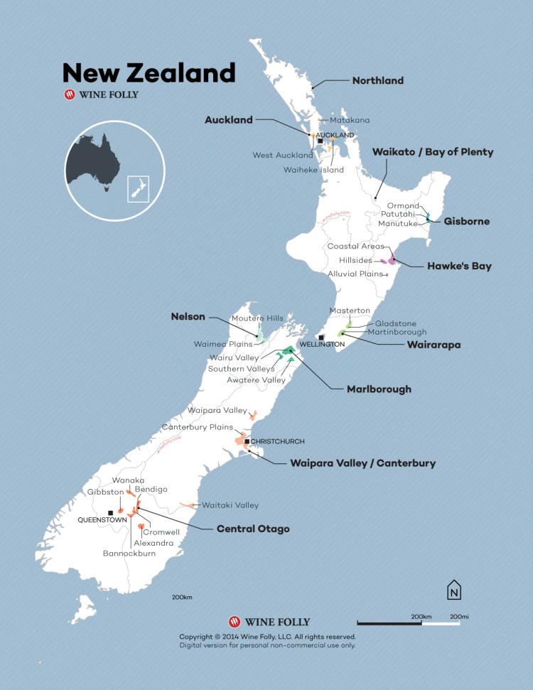Las 7 regiones de Nueva Zelanda donde se elabora el Sauvignon Blanc 1