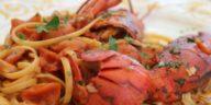 Tallarines con cangrejos de río en salsa de tomate picante 1