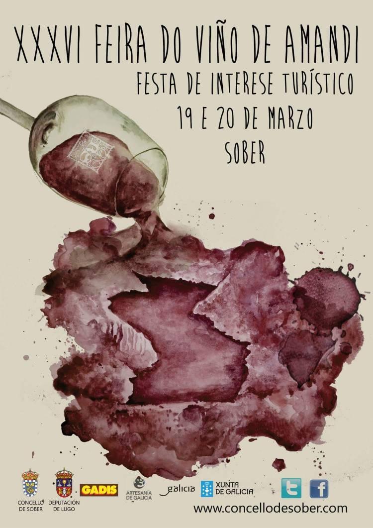 Ya tenemos cartel de la XXXVI Feira do Viño de Amandi (Ribeira Sacra) 2