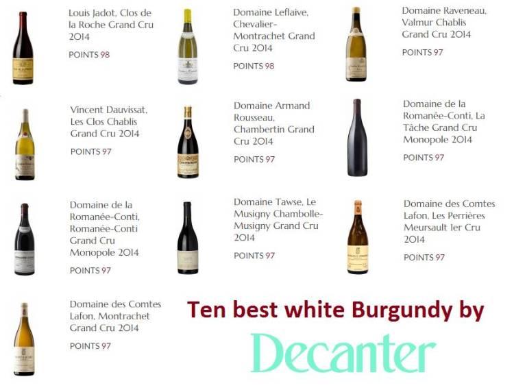 Los 10 mejores vinos blancos de Borgoña en estos momentos para Decanter 1