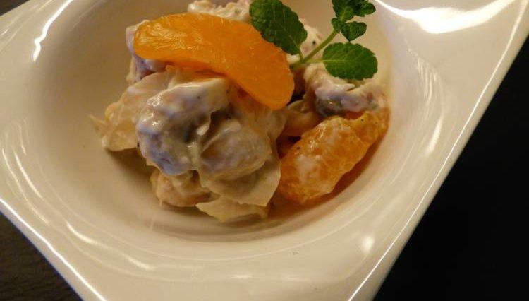 Tortellini en salsa de nata y mandarina 1