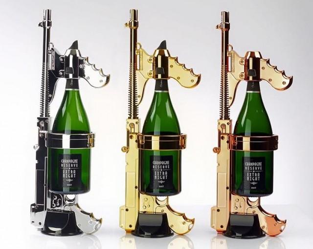 Champagne 'Machine Gun', la metralleta que dispara champagne (vídeo ilustrativo) 1