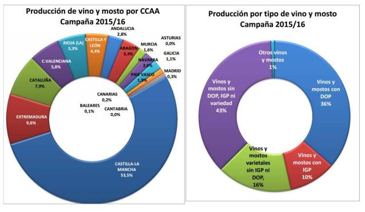 Previsión de 42 millones de hectolitros de vino y mosto para la campaña 2015/2016 en España 3