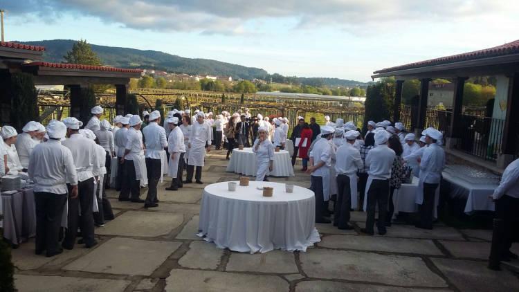 Showcooking del Grupo Nove maridado con vinos de Rías Baixas para la visita de los alumnos del Basque Culinary Center 4