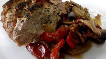 Cinta de lomo al horno especiada con verduras 5