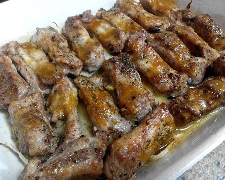 costillas con salsa agridulce