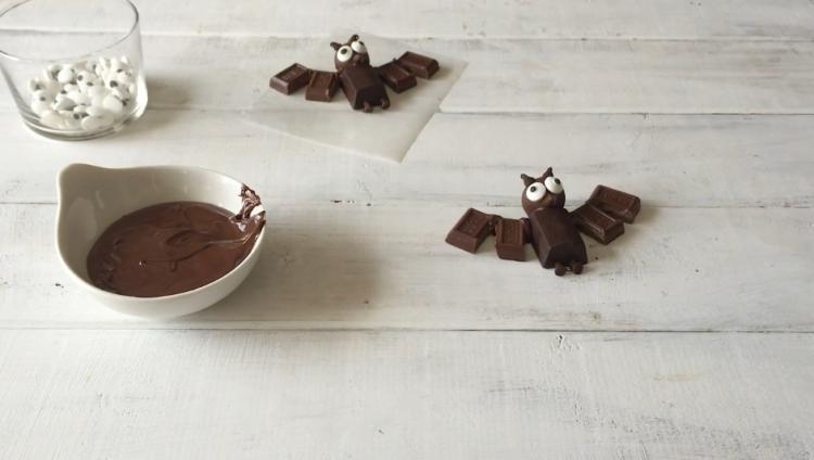 Cómo hacer murciélagos de chocolate