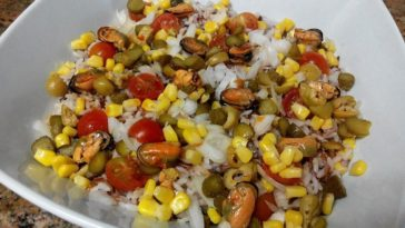 Ensalada de arroz tres colores 3