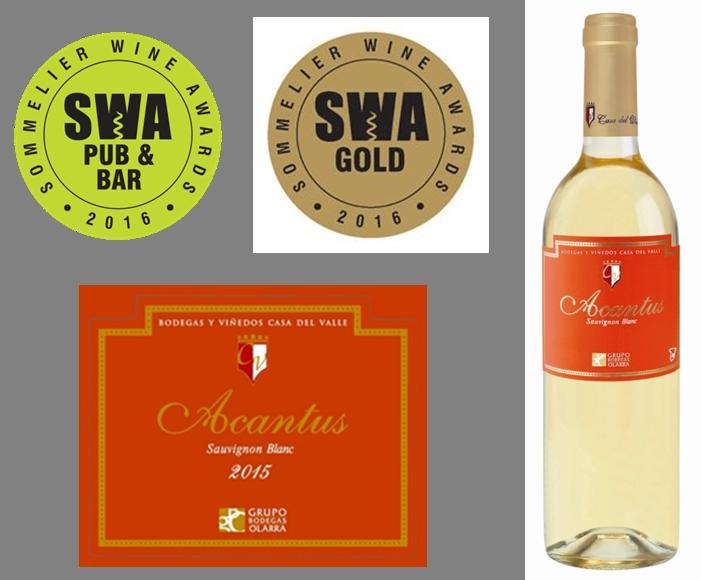 Acantus Sauvignon Blanc premiado con Trophy y Medalla de Oro en los Sommelier Wine Awards en UK 1