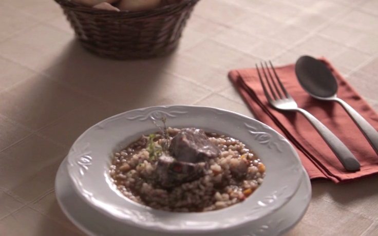arroz caldoso con carrilleras