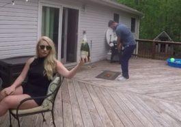 Como abrir una botella de champagne... jugando al golf 1