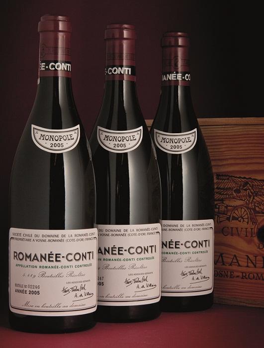 Una botella de Romanée-Conti 2005 alcanzó los 44.365 USD en la última subasta de Christie 1