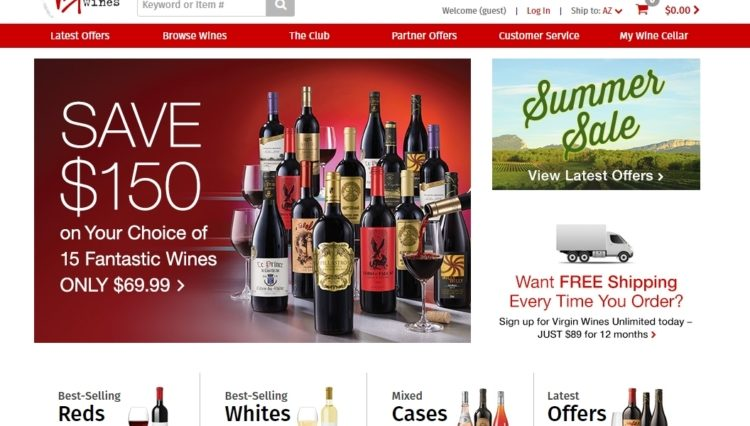 Virgin Wines abre tienda online en Amazon 1