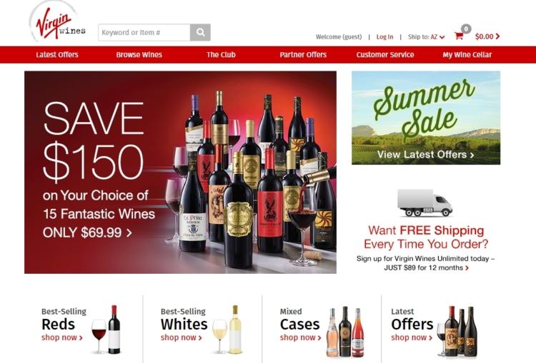 Virgin Wines abre tienda online en Amazon 1