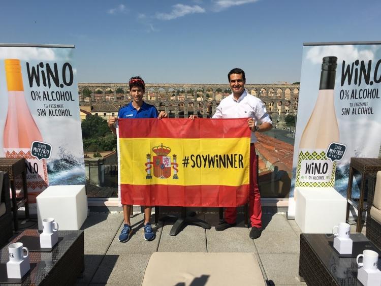 Javi Guerra será el embajador de Win, el vino sin alcohol, en los JJOO de Río 2